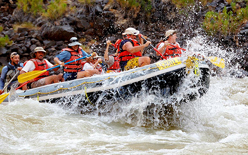 White Water Rafting fun in the Grand Canyon